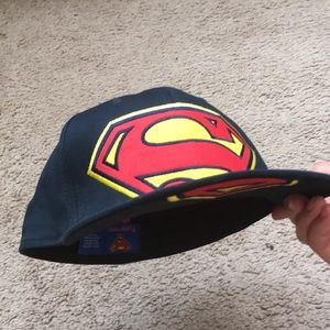 Superman embroidered hat
